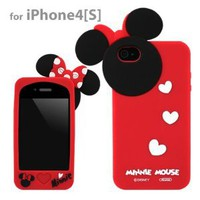 Disney Minnie Mouse Hide and Seek Silicone Case for iPhone 4:Amazon:Cell Phones & Accessories