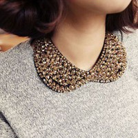 Vintage Beaded Gorgeous Collar Necklace