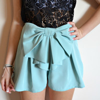 One-off Miami Mint bow shorts
