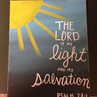 Psalm Bible Verse Painting on canvas