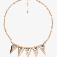 Sparkling Spikes Collar Necklace