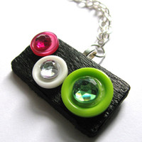 Colored Circles Necklace