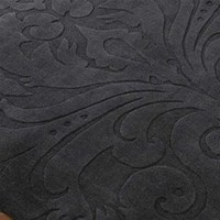 Damask Sculpture New Zealand Wool Area Rug in Black by Candice Olson for Surya Rugs