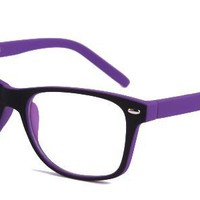 Antonia? Eyeglasses with Purple Plastic Aviator Full Frame/Rim Frame