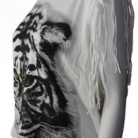 Tiger Fringe Top | Late Manta