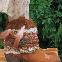 Leather cowboy boots from Rouge Pony