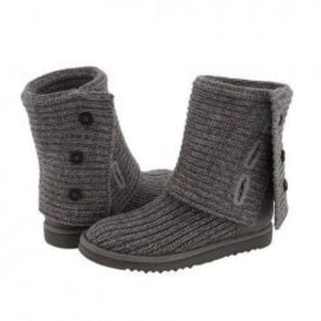 Fashion and Lovely Style Button Embellished Snow Boots For Woman/Girl China Wholesale - Sammydress.com