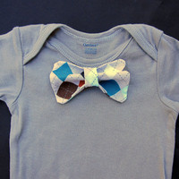 Custom Onesuit with Argyle Bow Tie by allisonmeredith on Etsy