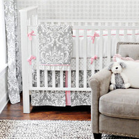 New Arrivals Crib Bedding Stella Gray