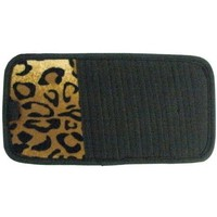 Tan Leopard Animal Print 10 CD/DVD Car Visor Organizer
