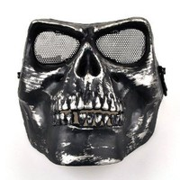 Amazon.com: BestDealUSA Death Skull Bone Airsoft Full Face Protect Safety Mask: Sports & Outdoors