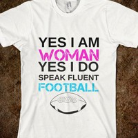 Woman Lovin Football-Unisex White T-Shirt