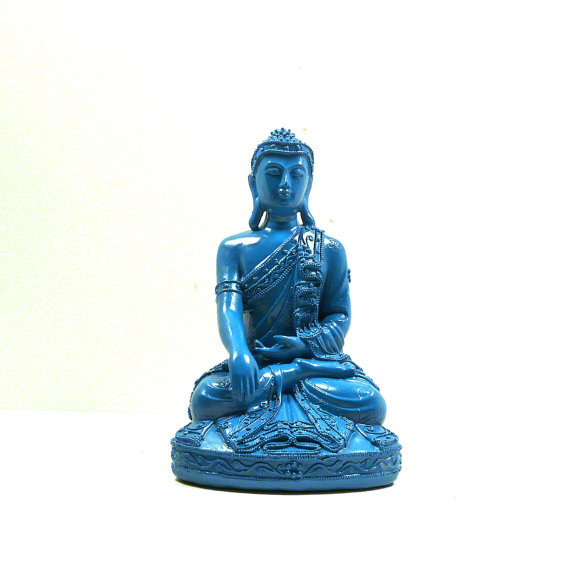 teal buddha statue thai home decor from nashpop on etsy. Black Bedroom Furniture Sets. Home Design Ideas