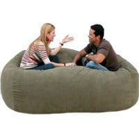 Amazon.com: 7-feet Xx-large Olive Cozy Sac Foof Bean Bag Chair Love Seat: Home &amp; Garden