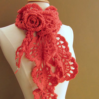 Victoria Wool ScarfCurrant by gsakowskidesigns on Etsy
