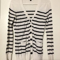 F21 stripe cardigan