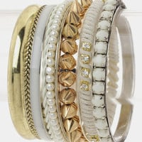 White 8 piece Bracelet Set from Monica&#x27;s Closet Essentials