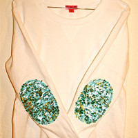 The &quot;Dazzle Patch&quot; Sweatshirt  w/Sequin Elbow Patch