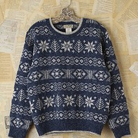 Free People Vintage Snowflake Holiday Sweater