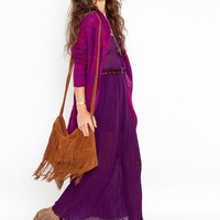 Pleated Maxi Dress - Plum  in  What's New at Nasty Gal
