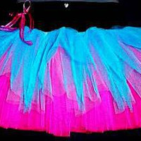 NEON UV PINK BLUE TOP CLUBBING TUTU SKIRT