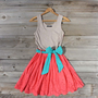 Spin &amp; Loom Dress in Watermelon, Sweet Women&#x27;s Country Clothing