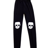 skull knee leggings.