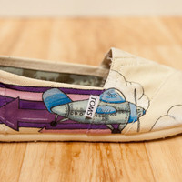 Custom Toms Shoes with YOUR Ideas by BPillustration on Etsy