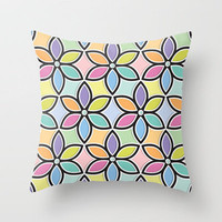 Shadow Box Flowers Throw Pillow by Dale Keys | Society6