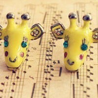 Cute Giraffe Stud Earrings at Online Cheap Fashion Jewelry Store Gofavor