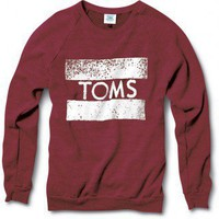 Unisex Maroon TOMS Classic Crew