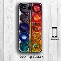 iPhone 5 / 5S Watercolor Palettes Hard Case iPhone 5 Paint Back Cover
