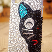iPhone4S 3G iPod Touch Cat Crystal Case Cover - GULLEITRUSTMART.COM