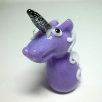 Glass Pipe Unicorn Sculpture, Heady Glass Chillum, Hitter, OOAK, Unicorn Pipe, Dichro Pipe, Cgge Team, Ready for Shipping