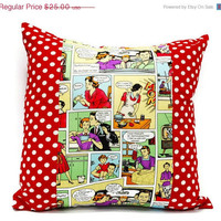 SALE 40% OFF Comic Throw Pillow cover