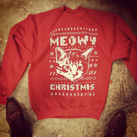 MEOWY CHRISTMAS SWEATSHIRT