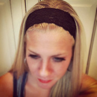 Black - Medium Lace Headband