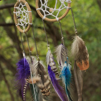 Bohemian Dream Catcher Feather Earrings