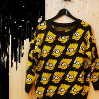 Simpson Pattern Woolen Sweater