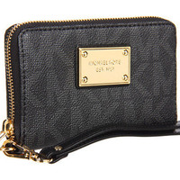 MICHAEL Michael Kors Monogram Embossed Wristlet