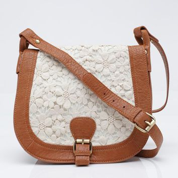 Lace Satchel Bag