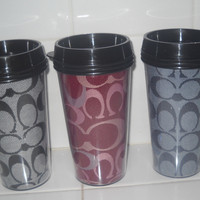 Coach Inspired Coffee Travel Mugs