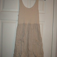 Beige Urban Outfitters Pins & Needles Open Back Colorblock Pocket Dress Sz M