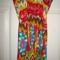Sexy Forever 21 Tribal Print Halter Dress Sz S