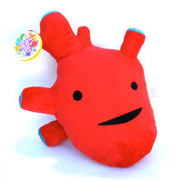 Humongous Heart Plush - I Got the Beat! [PTh] - $20.00 : I Heart Guts, Love Your Insides