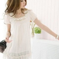 New Collection Popular Lace White Womens Blouses : Yoco-fashion.com