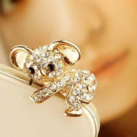 1pcs of Crystal  Lovely Koala Bear Earphone Cap by AppleCellphone