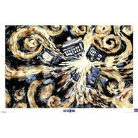 Amazon.com: Doctor Who - TV Show Poster (Van Gogh&#x27;s Exploding Tardis) (Size: 36 x 24) Poster Print, 36x24: Home &amp; Kitchen