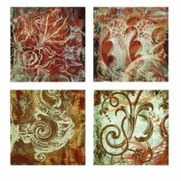 IMAX Canvas Wall Panel (Set of 4) - 16187-4 - All Wall Art - Wall Art & Coverings - Decor