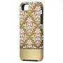 Elegant Dark Gold Vintage Damask Pattern iPhone 5 Cases from Zazzle.com